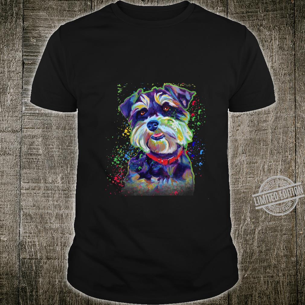 Womens Art Schnauzer Cute Schnauzer Shirt
