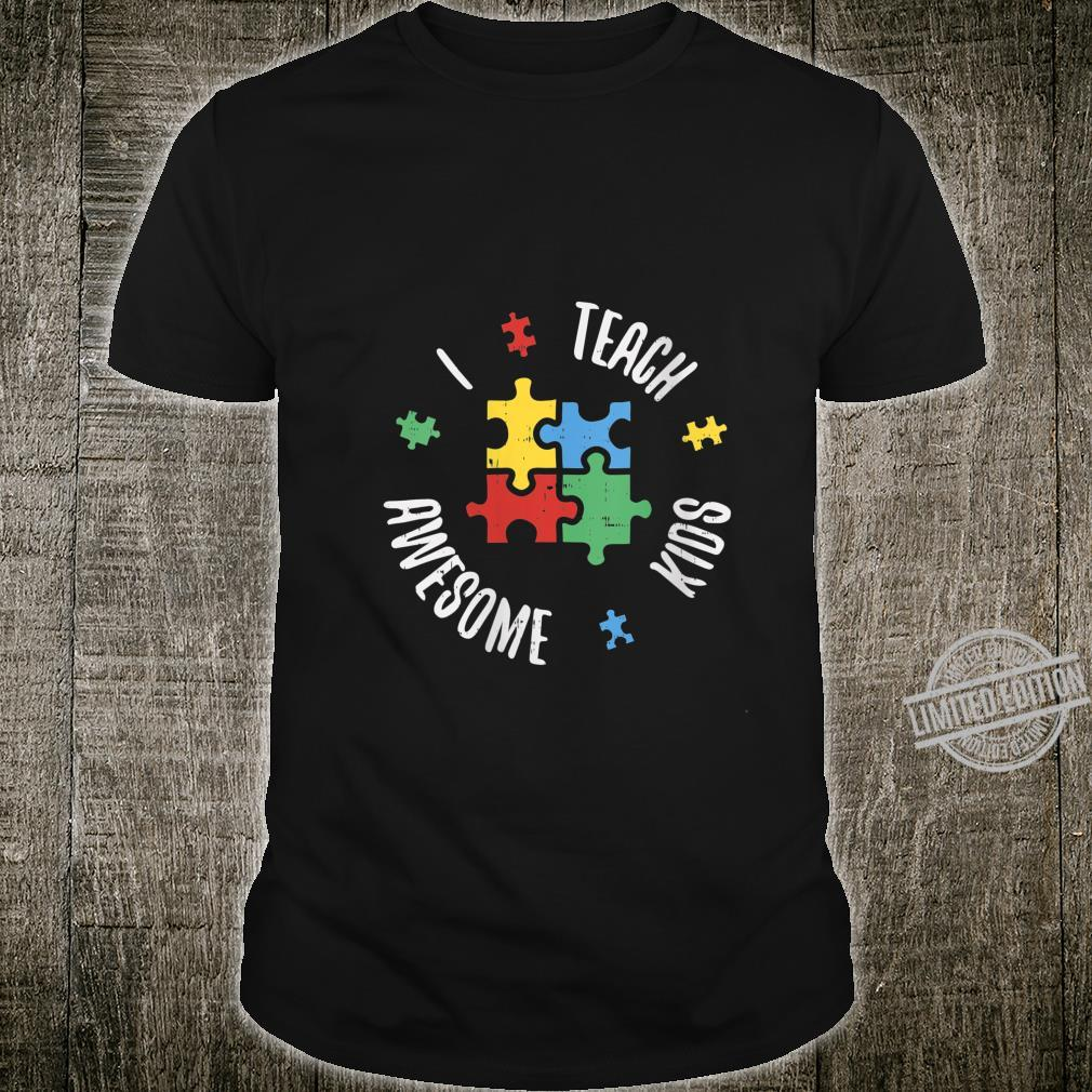 Womens Autism Awareness Teacher Shirt Teach Awesome Special Ed Shirt