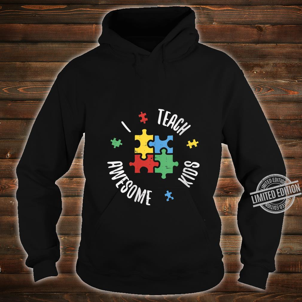 Womens Autism Awareness Teacher Shirt Teach Awesome Special Ed Shirt hoodie