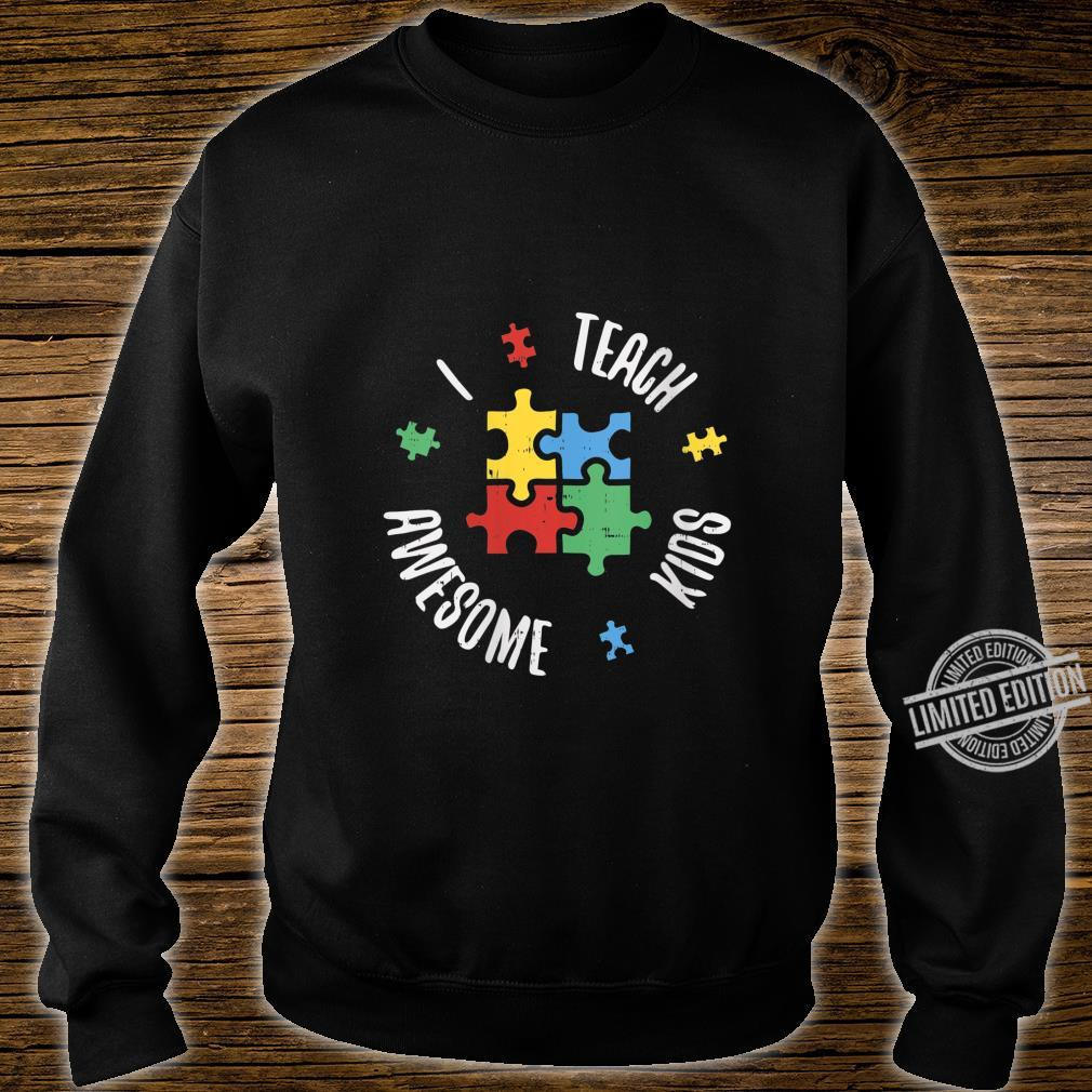 Womens Autism Awareness Teacher Shirt Teach Awesome Special Ed Shirt sweater