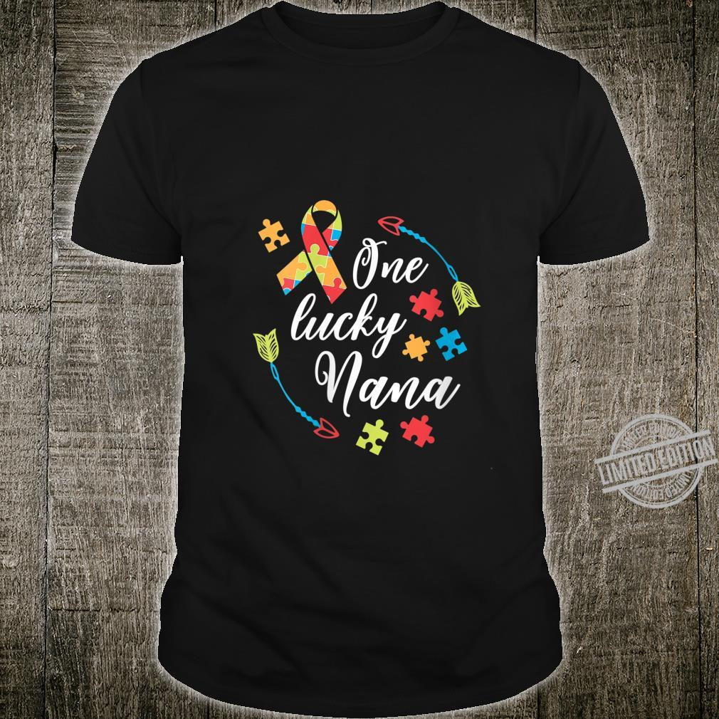Womens Autism Nana One Lucky Nana Autism Awareness Shirt