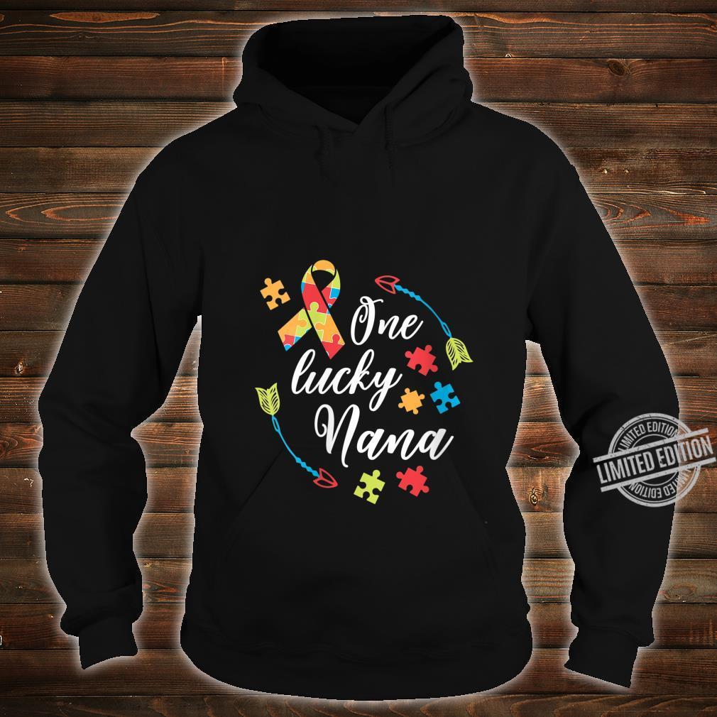 Womens Autism Nana One Lucky Nana Autism Awareness Shirt hoodie