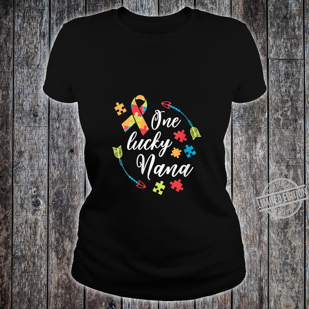 Womens Autism Nana One Lucky Nana Autism Awareness Shirt ladies tee