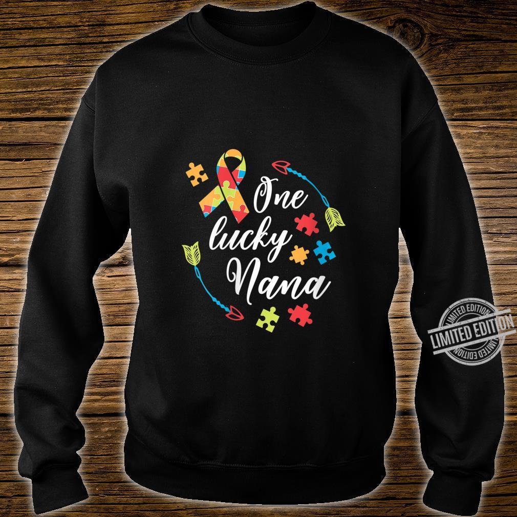 Womens Autism Nana One Lucky Nana Autism Awareness Shirt sweater