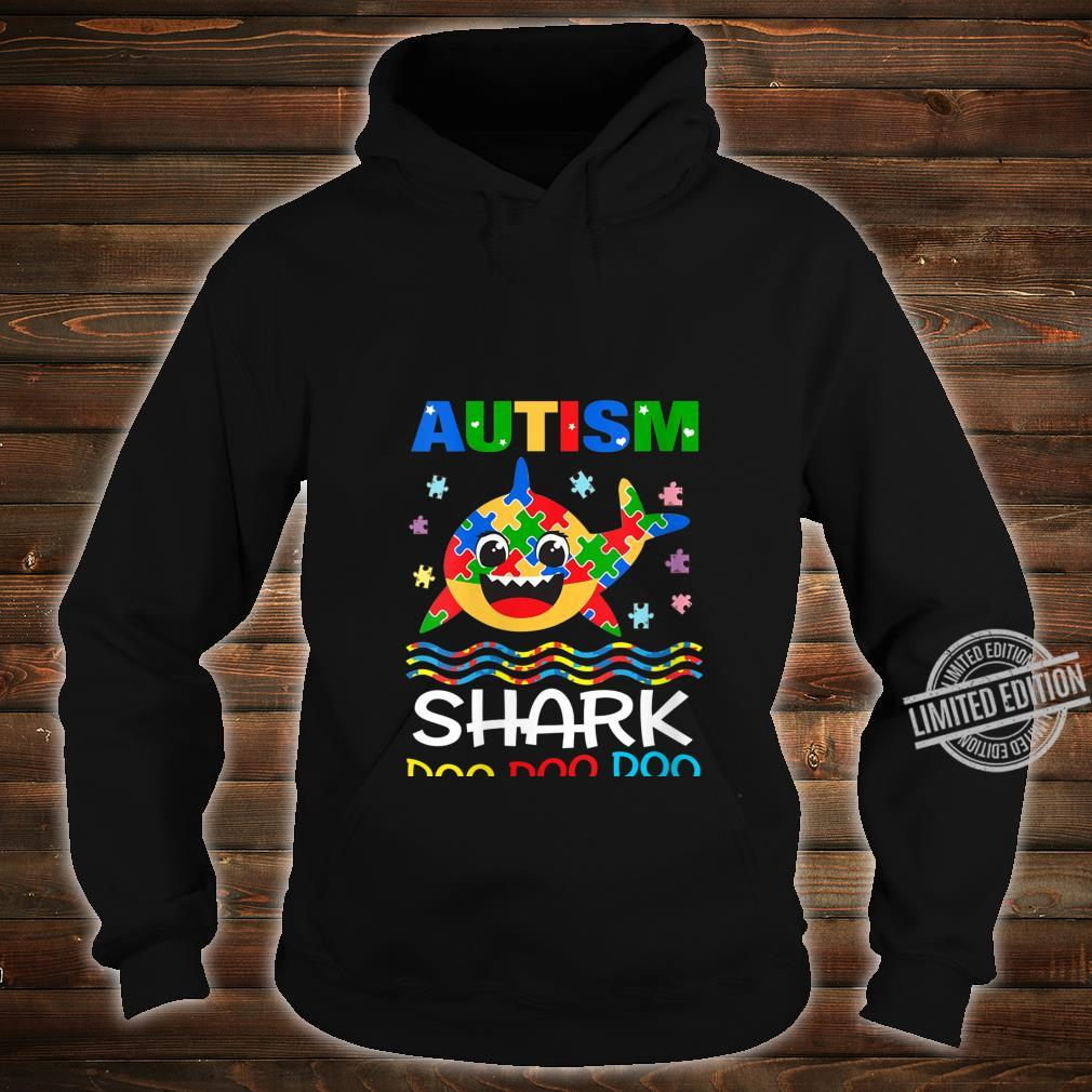 Womens Autism Shark Doo Doo Doo Autism Awareness Month Shirt hoodie