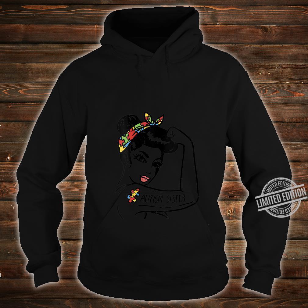 Womens Autism Unbreakable Sister Shirt Autistic Awareness Girls Shirt hoodie