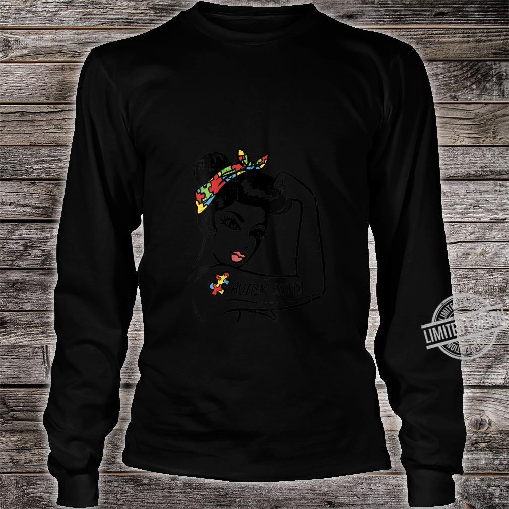 Womens Autism Unbreakable Sister Shirt Autistic Awareness Girls Shirt long sleeved