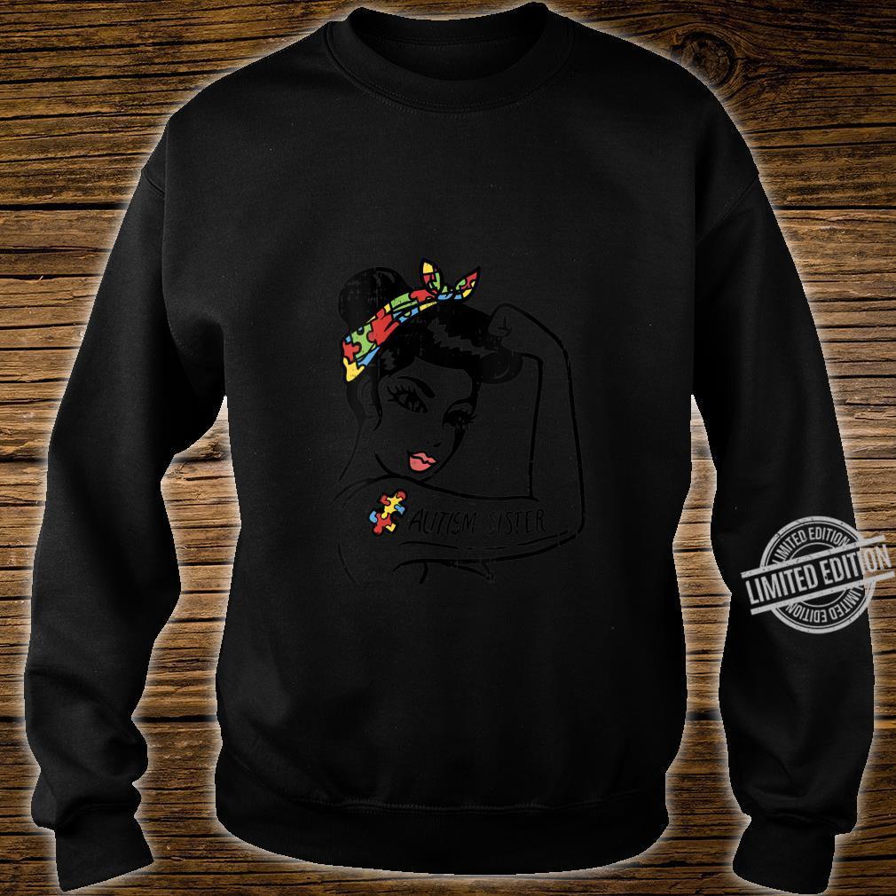 Womens Autism Unbreakable Sister Shirt Autistic Awareness Girls Shirt sweater