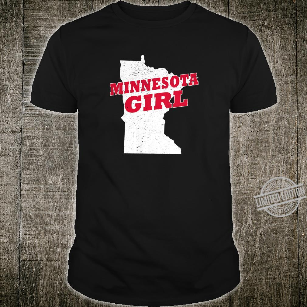 Womens Minnesota Girl Retro Vintage City Shirt