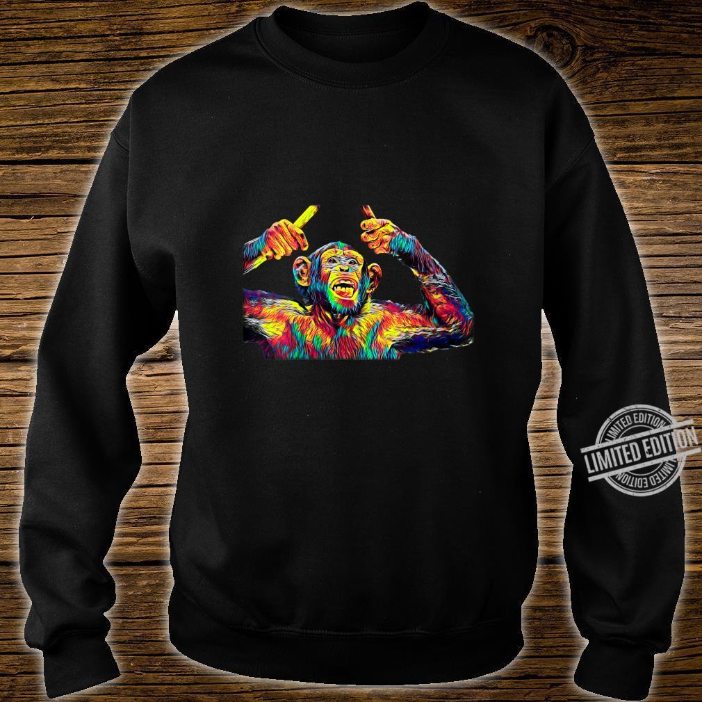 Womens Monkey Drummer Shirt sweater