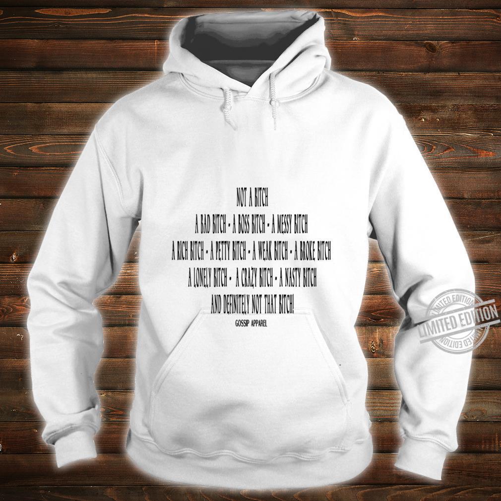 Womens Not A BTCH Shirt hoodie