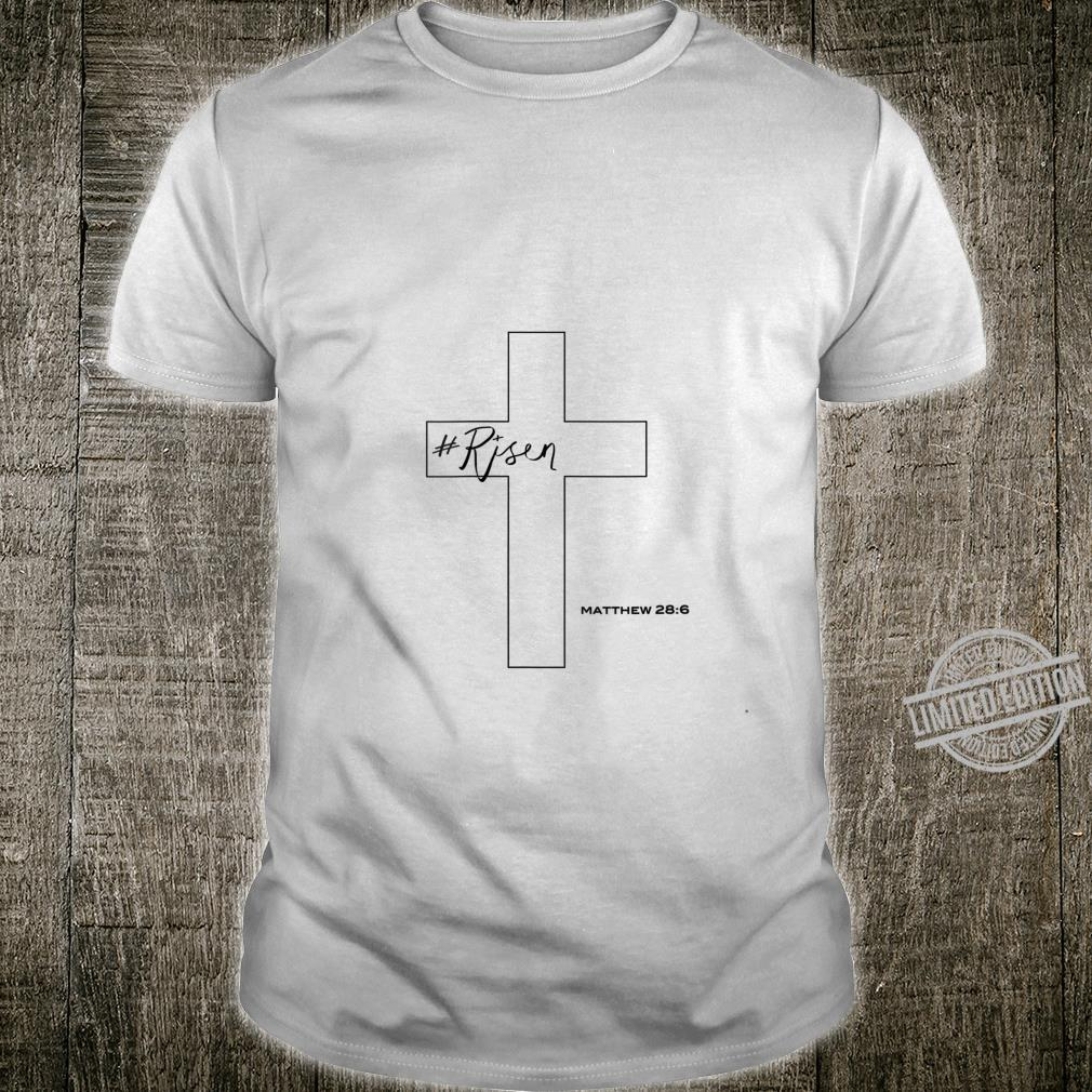 Womens Risen Christian Cross Shirt