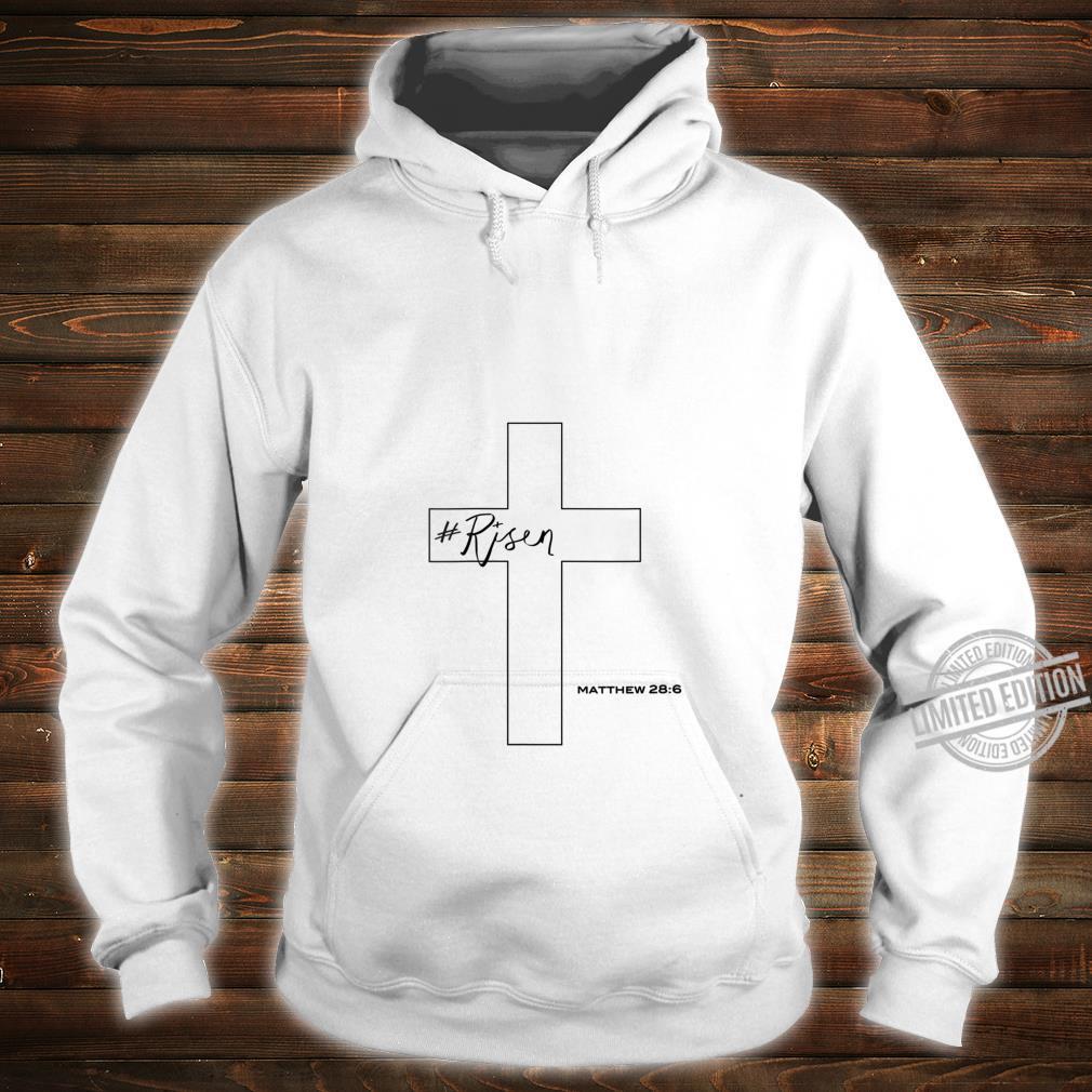 Womens Risen Christian Cross Shirt hoodie