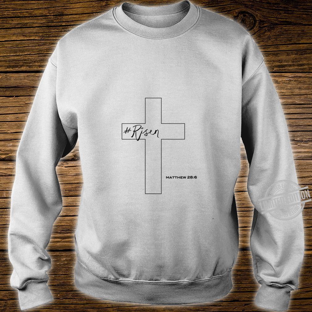 Womens Risen Christian Cross Shirt sweater