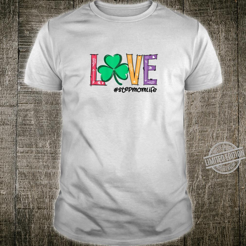 Womens Stepmom life Love Ireland Green Plaid Shamrock St Patrick's Shirt
