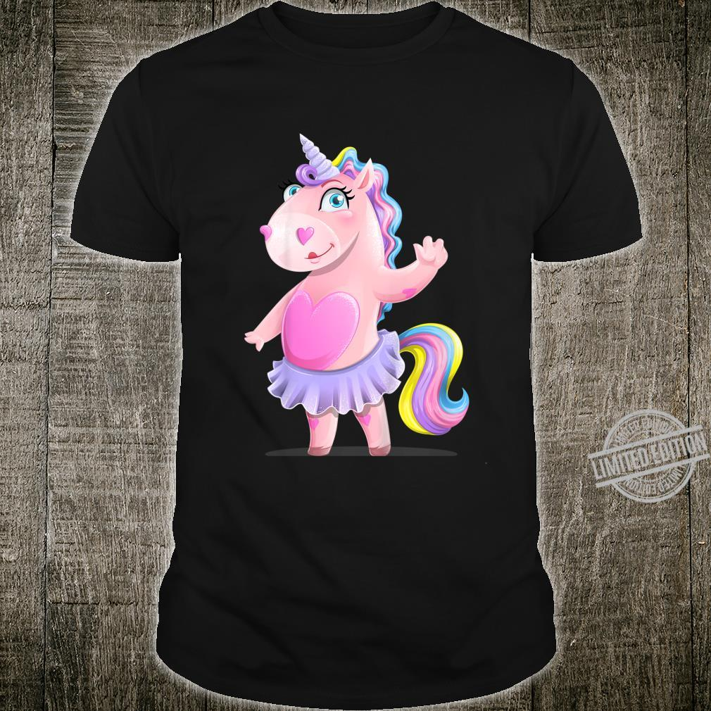Youth Colourful Children Rainbow Unicorn Shirt
